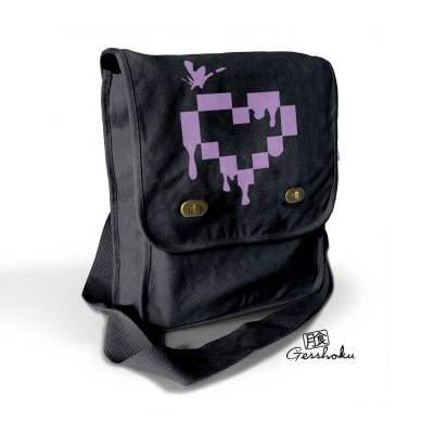 Pixel Drops Heart Field Bag