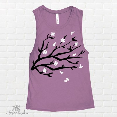 Sakura Blossoms Sleeveless Tank Top