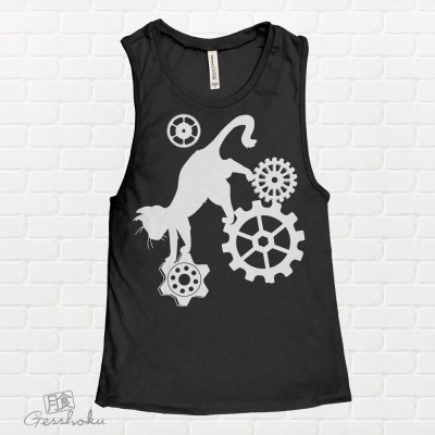 Steampunk Cat Sleeveless Tank Top