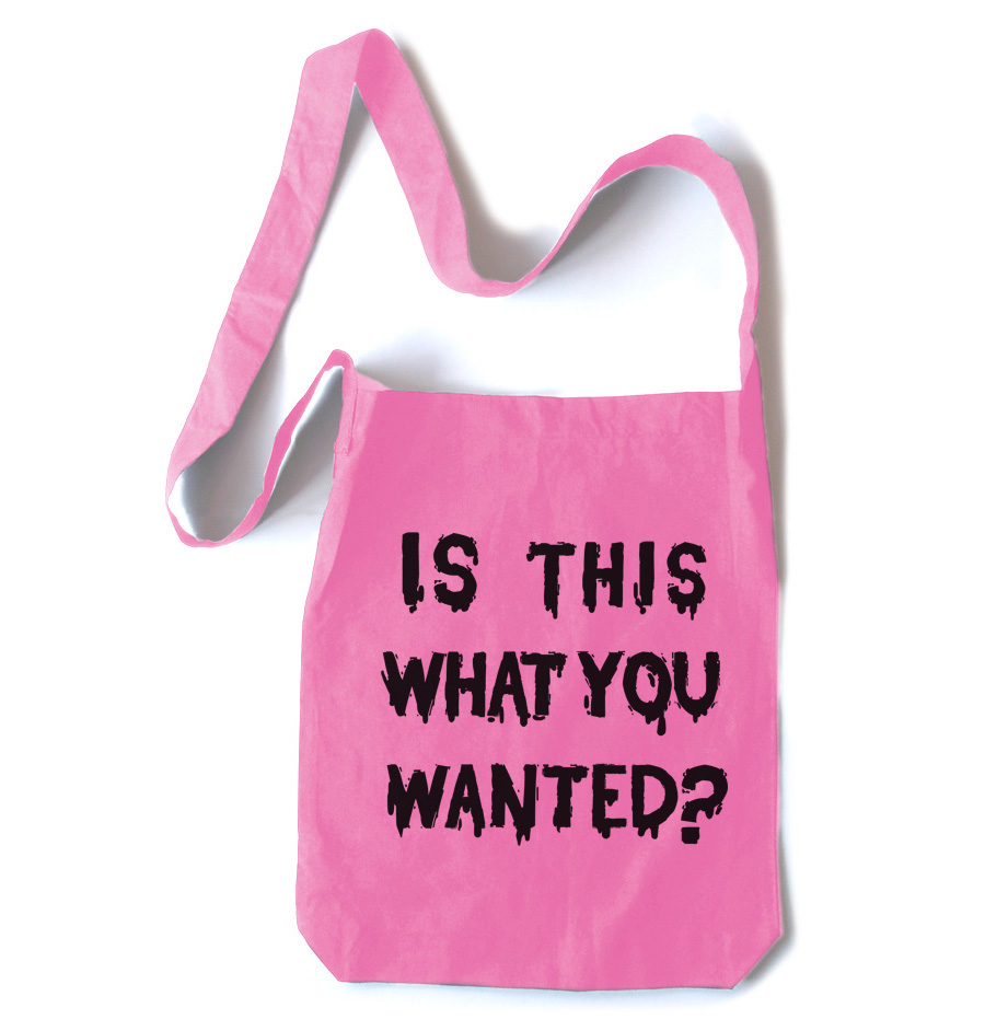 Is ThiS WHaT YoU wANTed? Crossbody Tote Bag - Pink