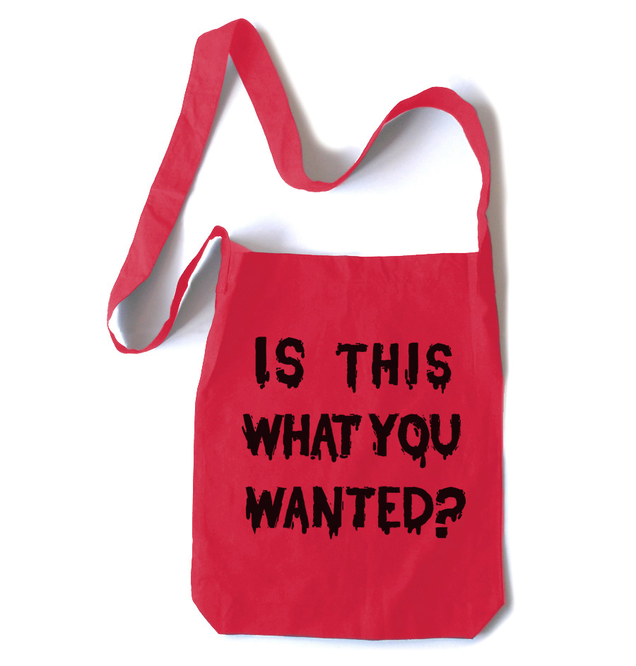 Is ThiS WHaT YoU wANTed? Crossbody Tote Bag - Red