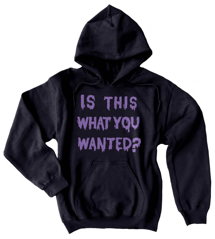 Is ThiS WHaT YoU wANTed? Pullover Hoodie - Black