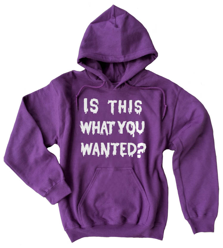 Is ThiS WHaT YoU wANTed? Pullover Hoodie - Purple