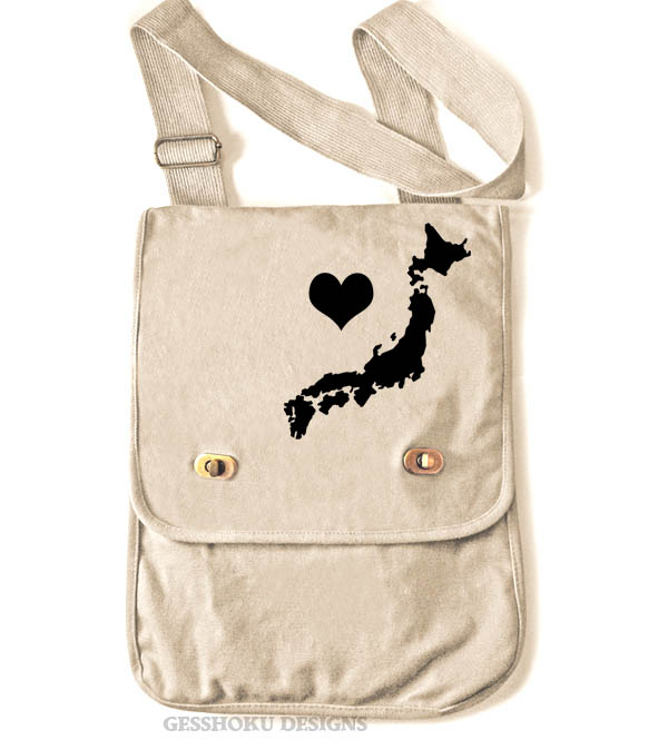 My Heart in Japan Field Bag - Natural