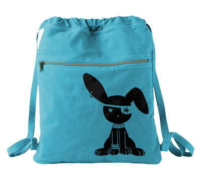 Jrock Bunny Cinch Backpack - Aqua Blue