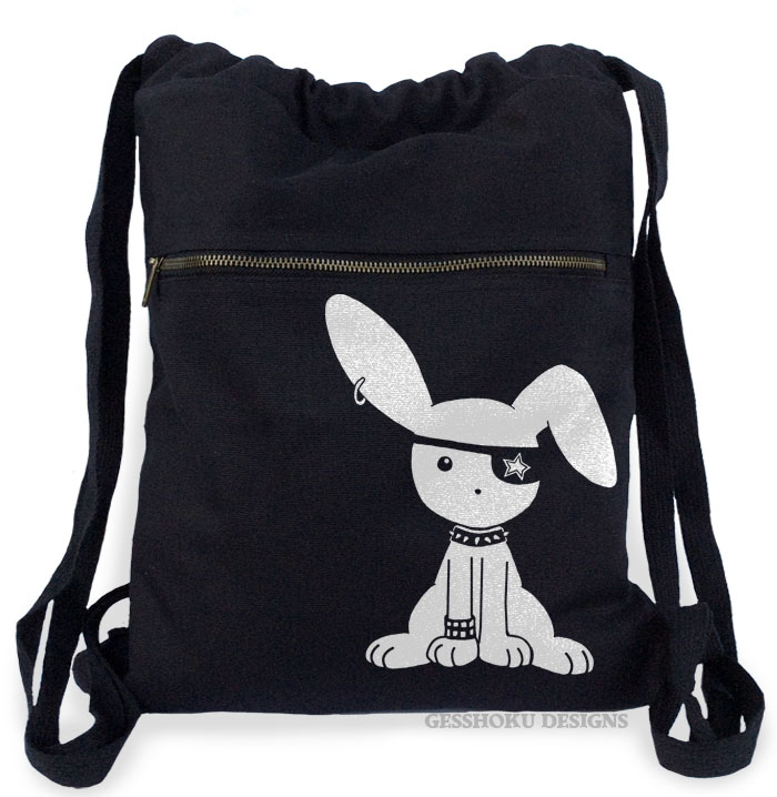 Jrock Bunny Cinch Backpack - Black