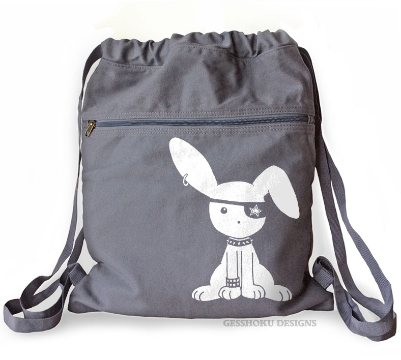 Jrock Bunny Cinch Backpack - Smoke Grey