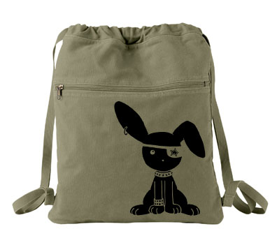 Jrock Bunny Cinch Backpack - Khaki Green