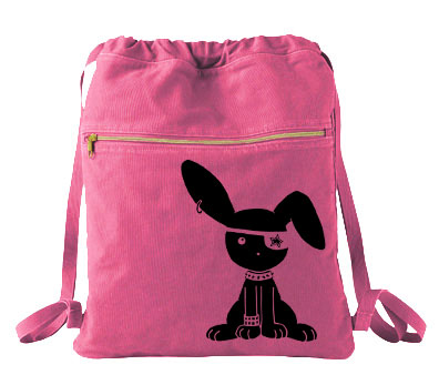 Jrock Bunny Cinch Backpack - Raspberry