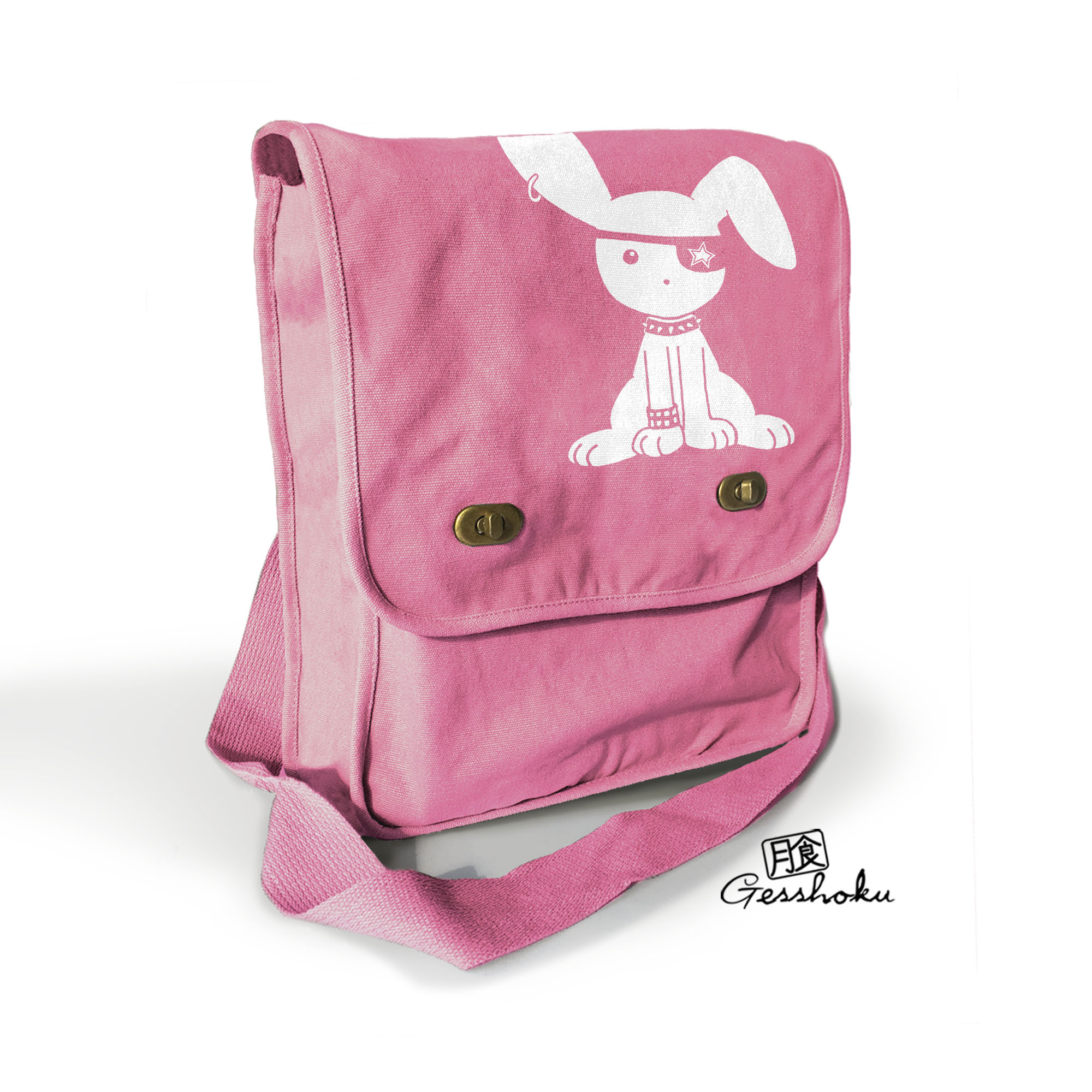 Gothic Jrock Bunny Field Bag - Pink
