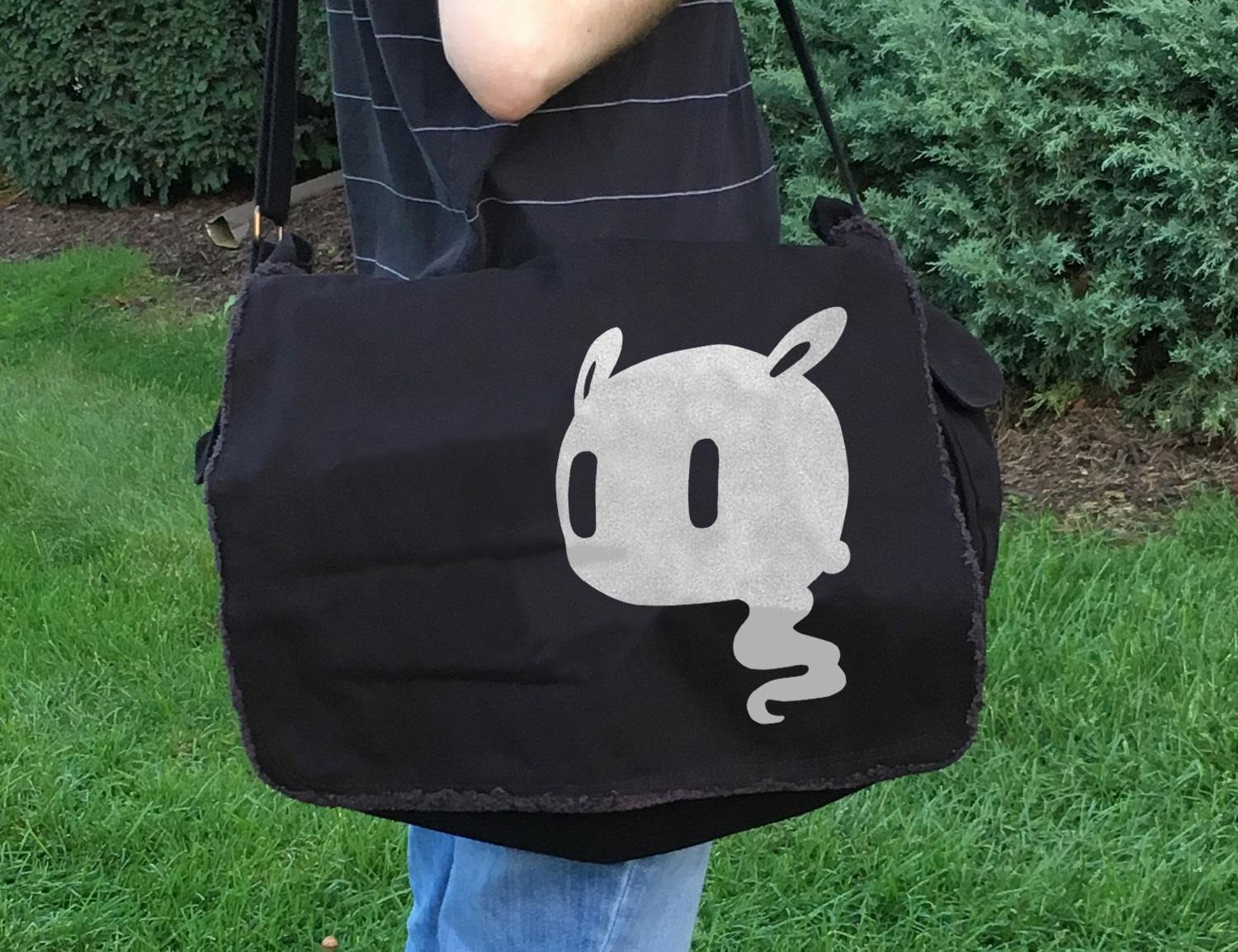 Kawaii Ghost Messenger Bag -