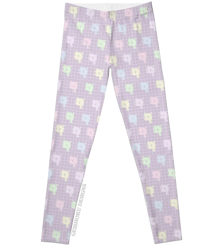 Kawaii Ghost Pastel Leggings -