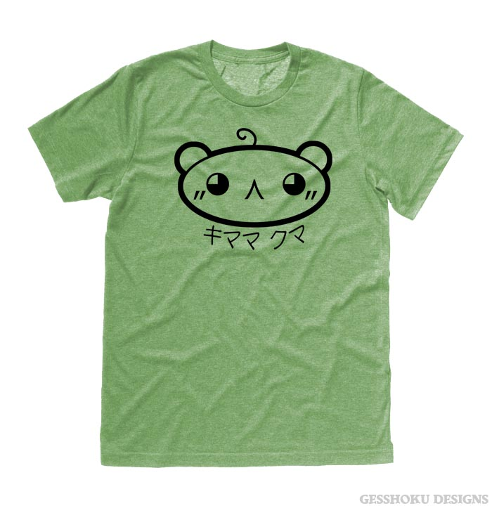 Kimama Kuma T-shirt - Heather Green