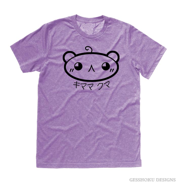 Kimama Kuma T-shirt - Heather Purple