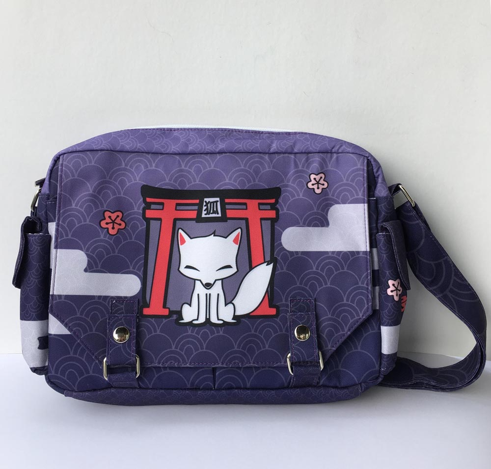 Kitsune Shrine Full-Print Messenger Bag -