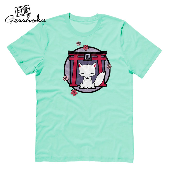 Kitsune Shrine T-shirt - Mint