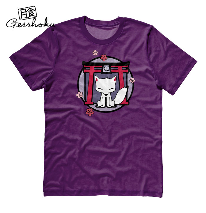 Kitsune Shrine T-shirt - Purple