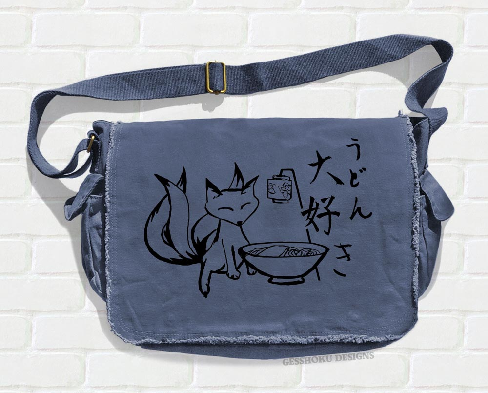 Kitsune Udon Messenger Bag - Denim Blue
