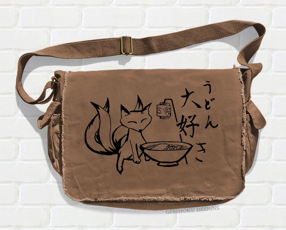 Kitsune Udon Messenger Bag - Brown