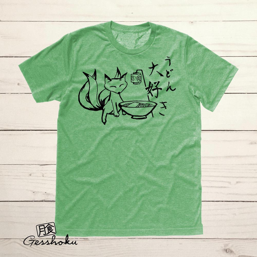 Kitsune Udon T-shirt - Heather Green