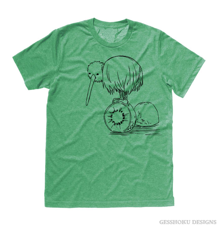 Fruity Kiwi Bird T-shirt - Heather Green