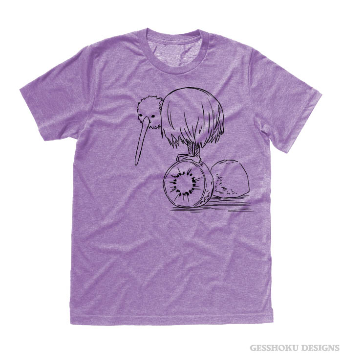 Fruity Kiwi Bird T-shirt - Heather Purple