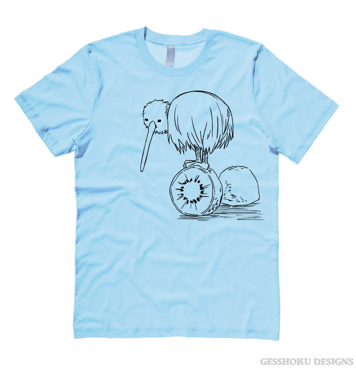 Fruity Kiwi Bird T-shirt - Light Blue