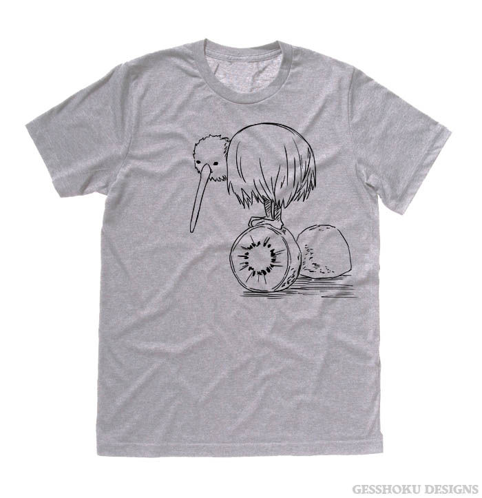 Fruity Kiwi Bird T-shirt - Light Grey