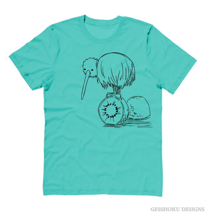 Fruity Kiwi Bird T-shirt - Teal