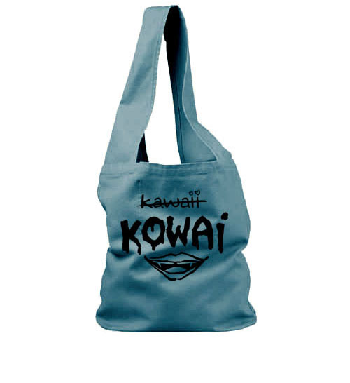 KOWAI not Kawaii Sling Bag - Turquoise