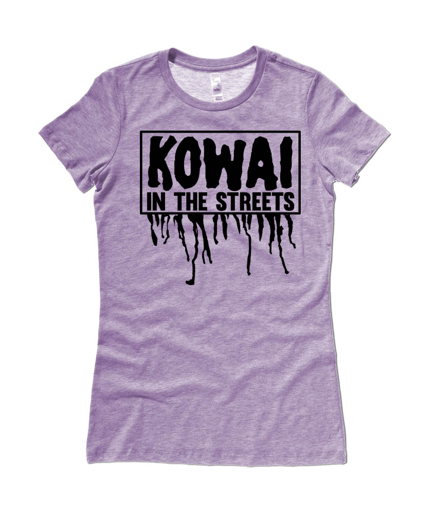 Kowai in the Streets Ladies T-shirt - Heather Purple