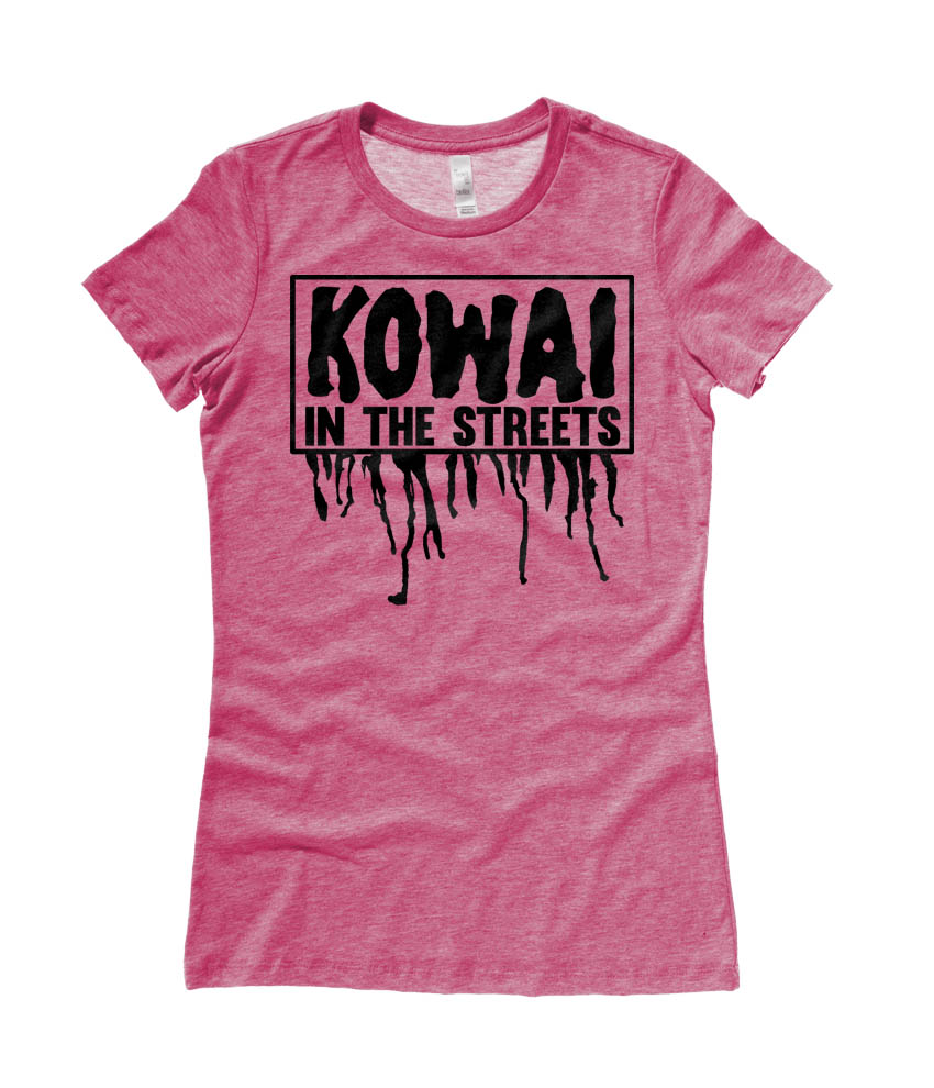 Kowai in the Streets Ladies T-shirt - Heather Raspberry