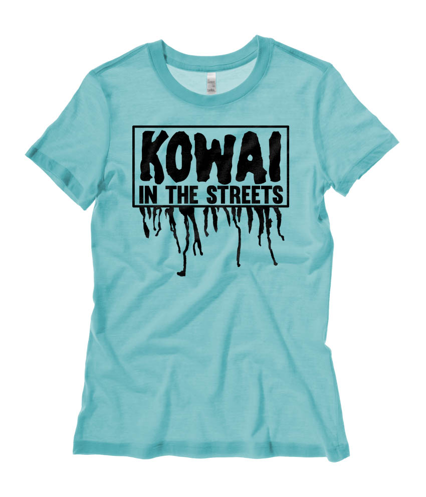 Kowai in the Streets Ladies T-shirt - Teal