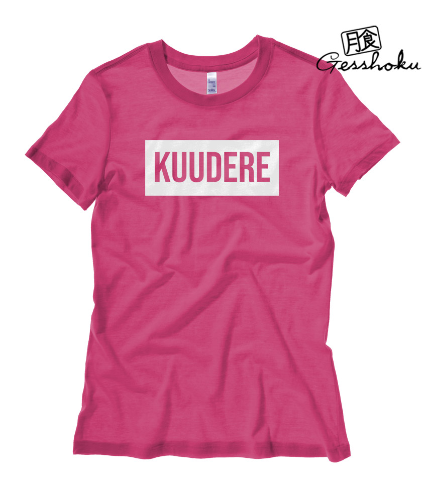 Kuudere Ladies T-shirt - Hot Pink