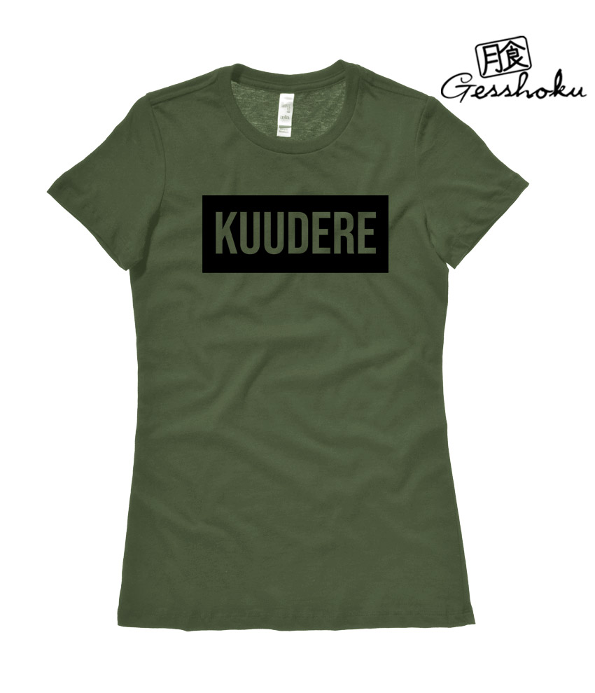 Kuudere Ladies T-shirt - Olive Green