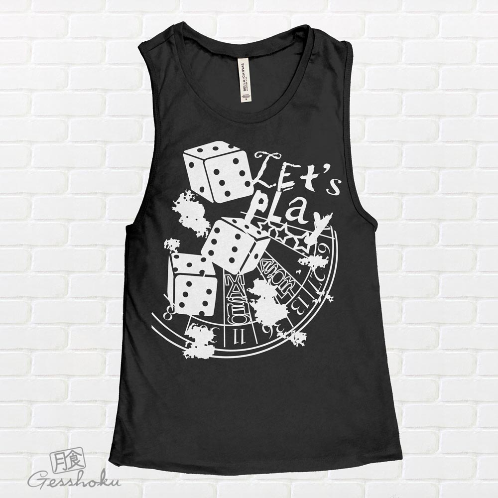 Let's Play 666 Sleeveless Tank Top - Black