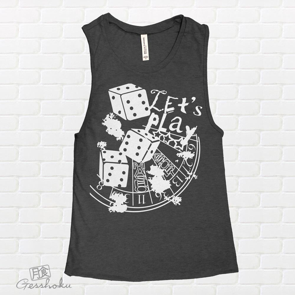 Let's Play 666 Sleeveless Tank Top - Charcoal Grey