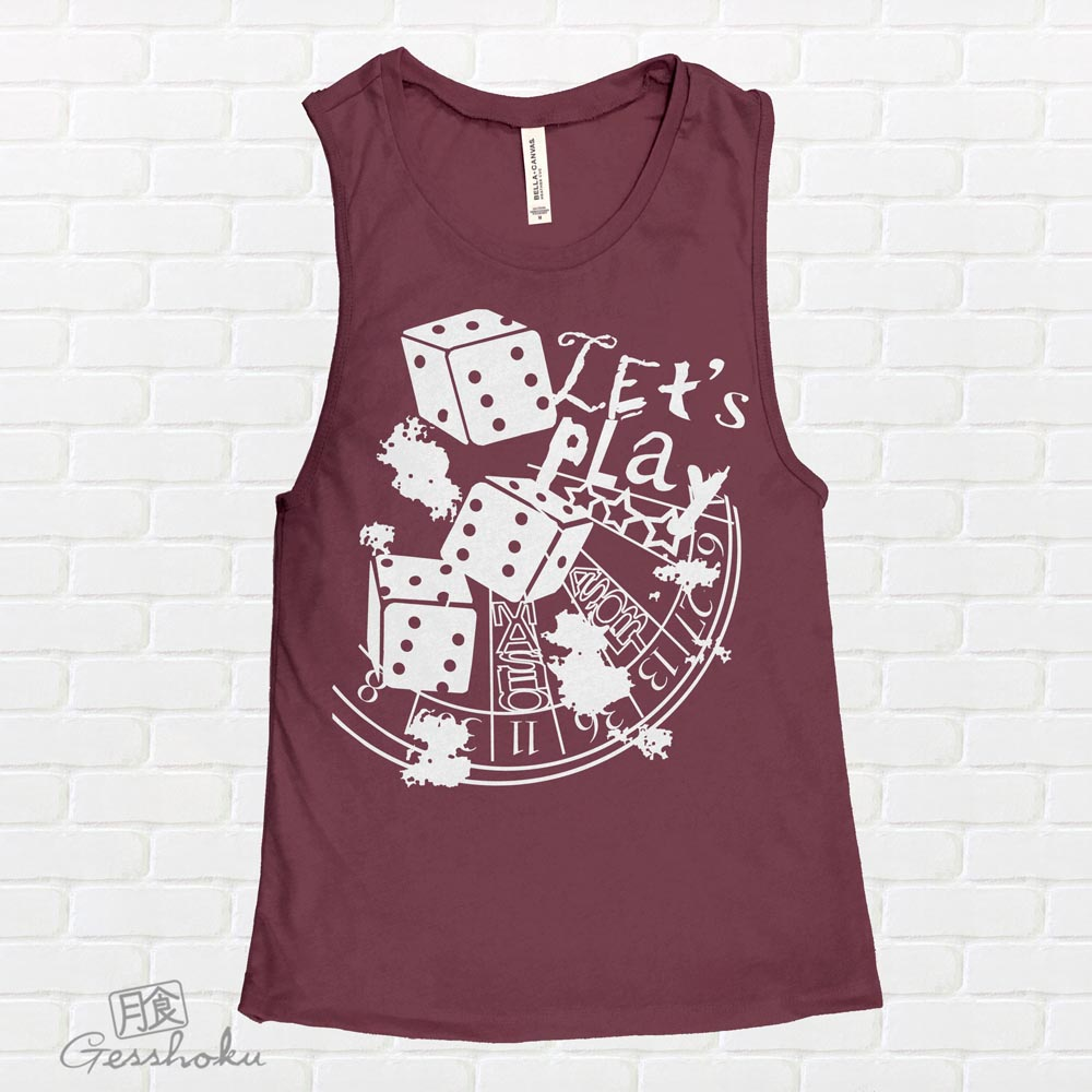 Let's Play 666 Sleeveless Tank Top - Maroon