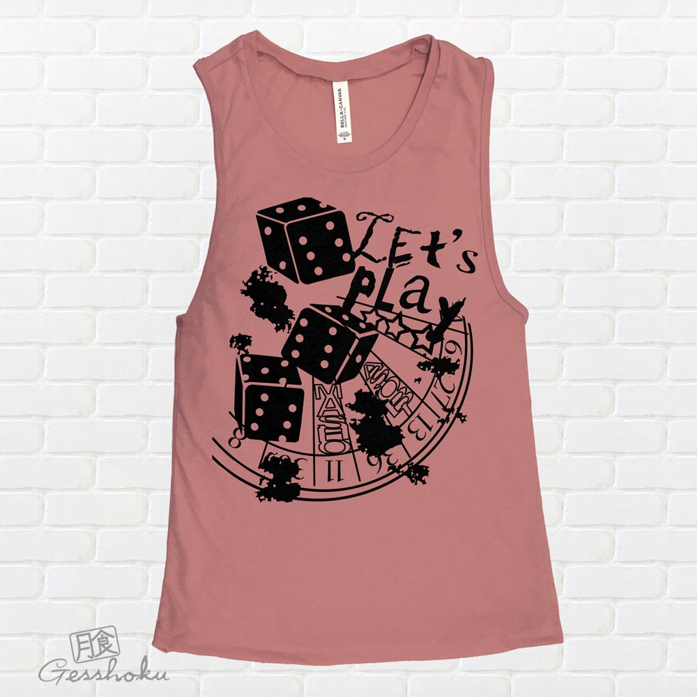 Let's Play 666 Sleeveless Tank Top - Rose Wine