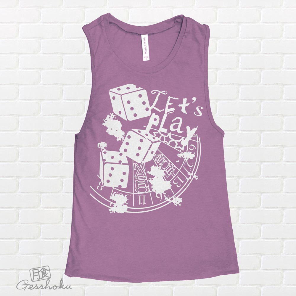 Let's Play 666 Sleeveless Tank Top - Purple
