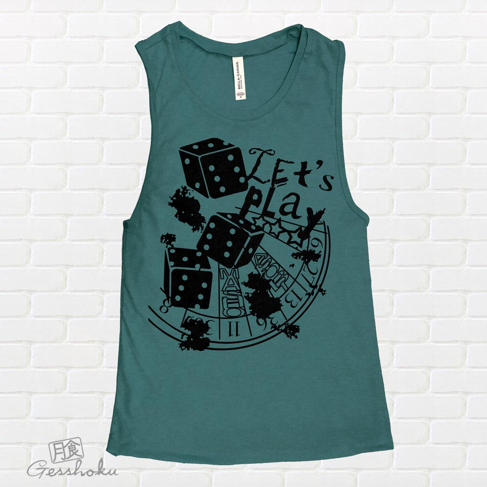 Let's Play 666 Sleeveless Tank Top - Dark Heather Teal