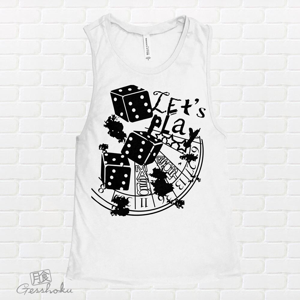 Let's Play 666 Sleeveless Tank Top - White