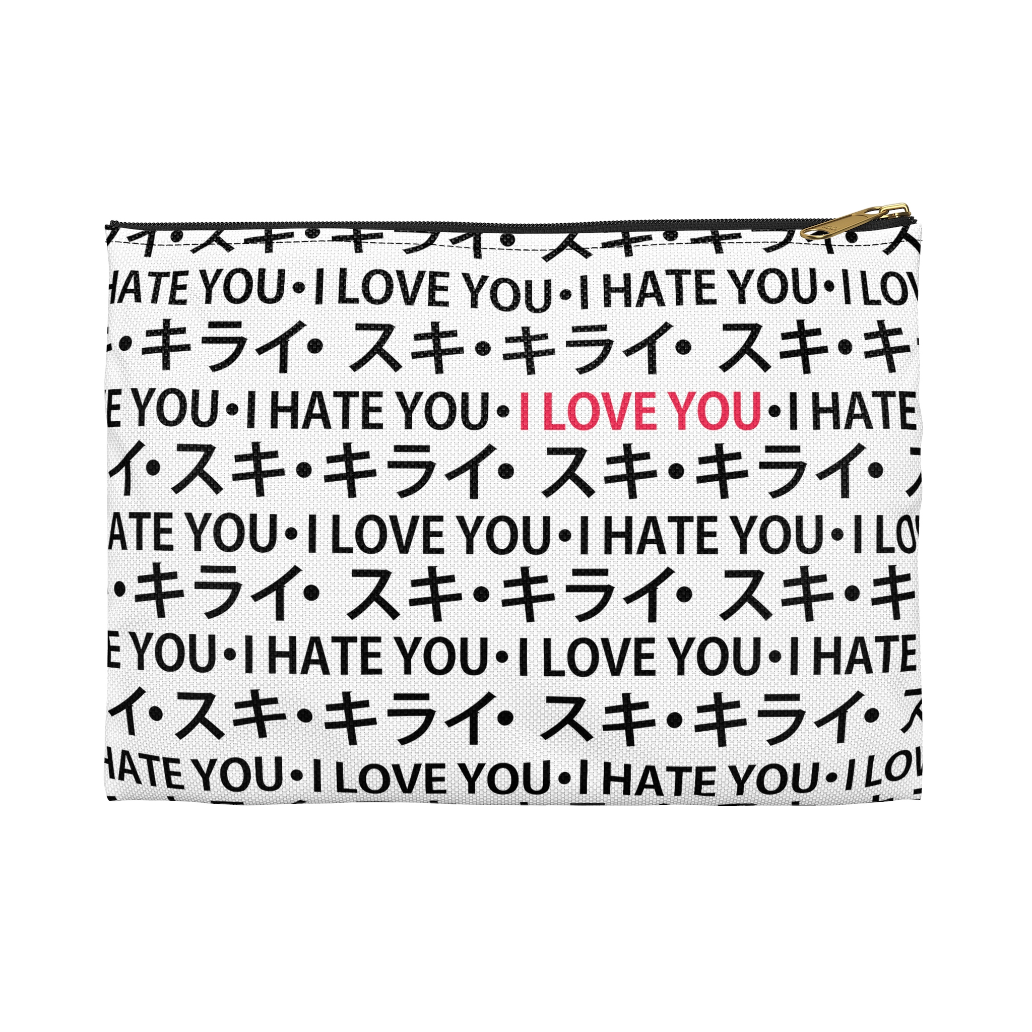 Love Hate Relationship Pencil Pouch - White