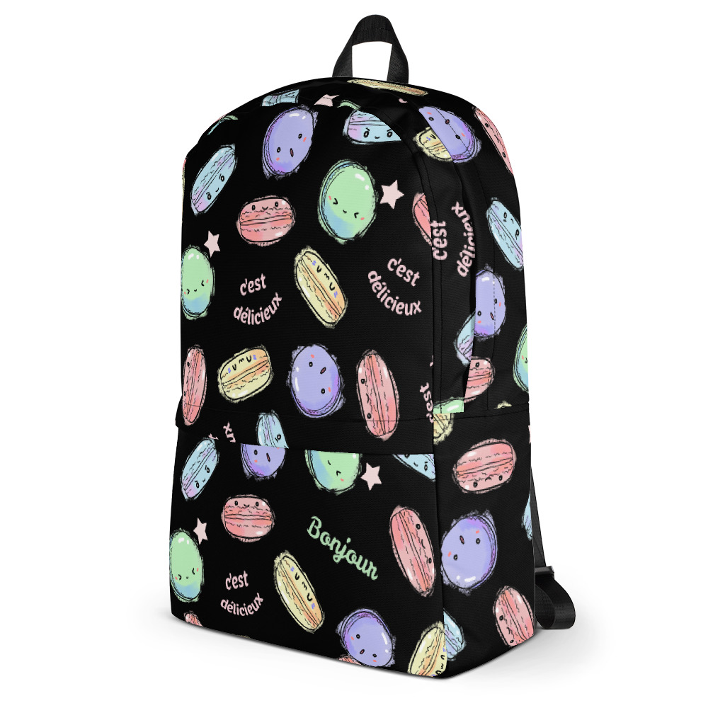 Delicious Macarons Classic Backpack with Laptop Sleeve -