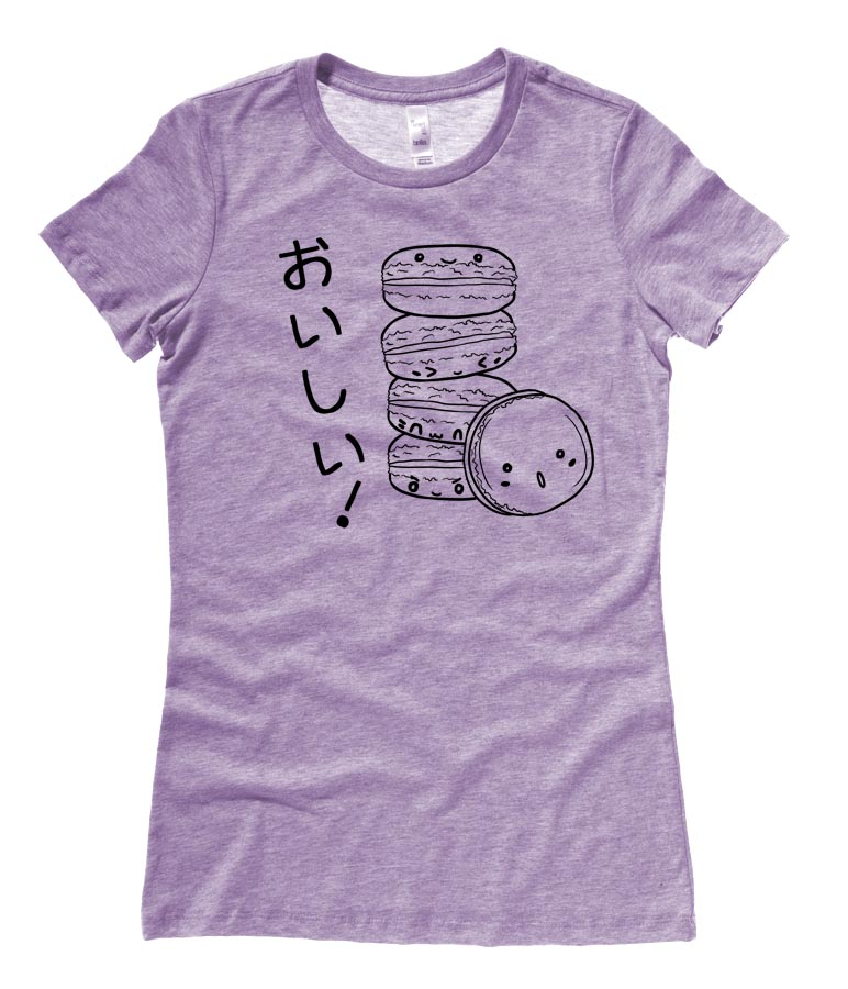 Delicious Macarons Ladies T-shirt - Heather Purple