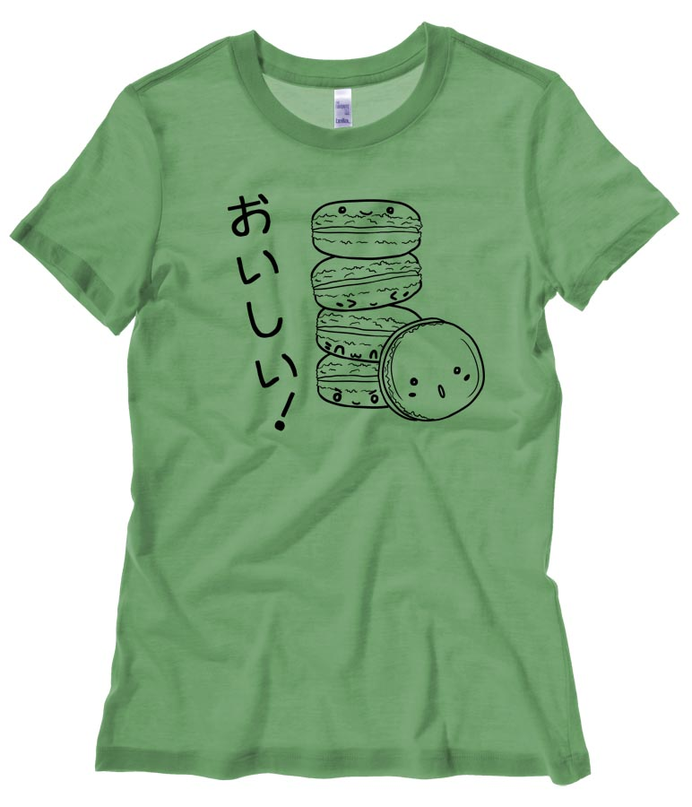 Delicious Macarons Ladies T-shirt - Leaf Green