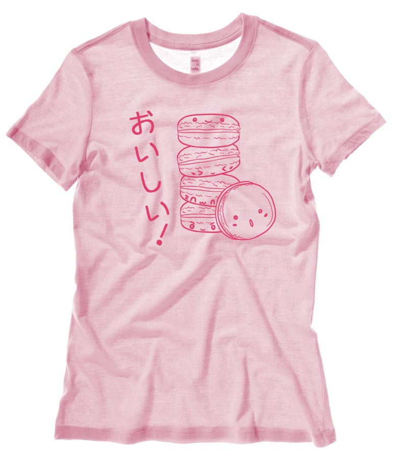 Delicious Macarons Ladies T-shirt - Light Pink