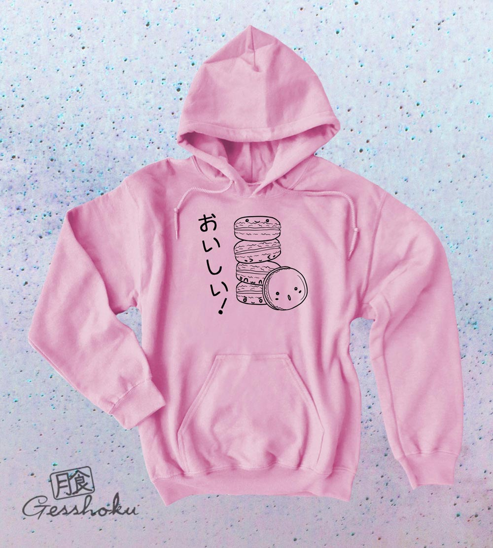Delicious Macarons Pullover Hoodie - Light Pink