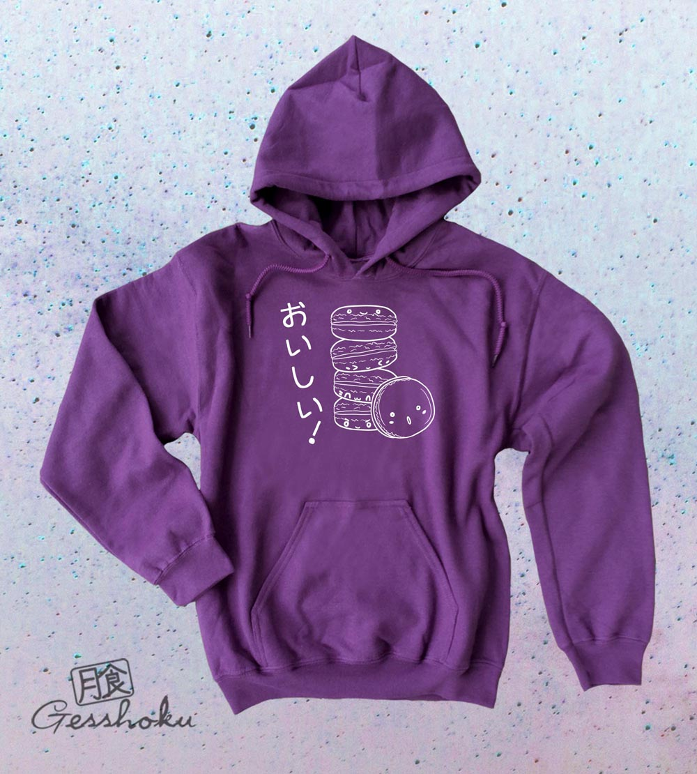 Delicious Macarons Pullover Hoodie - Purple