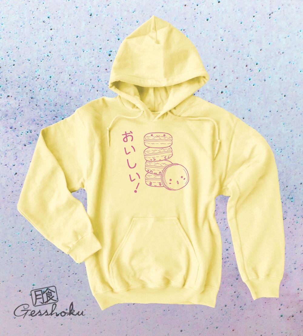 Delicious Macarons Pullover Hoodie - Yellow
